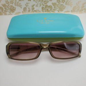 Giorgio Armani green gradient womens sunglasses